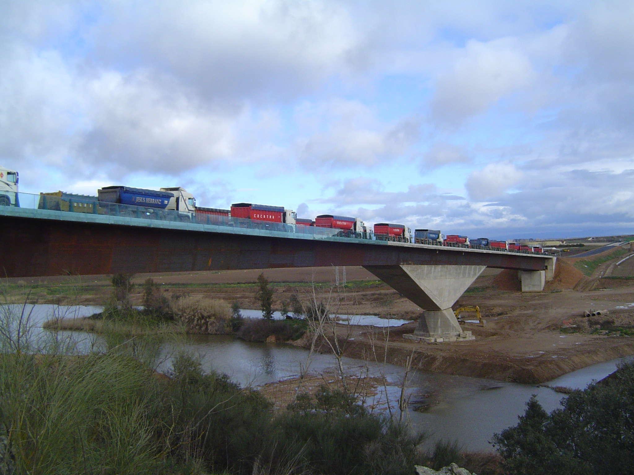 """Bridge over river """"Guadiana"""""""